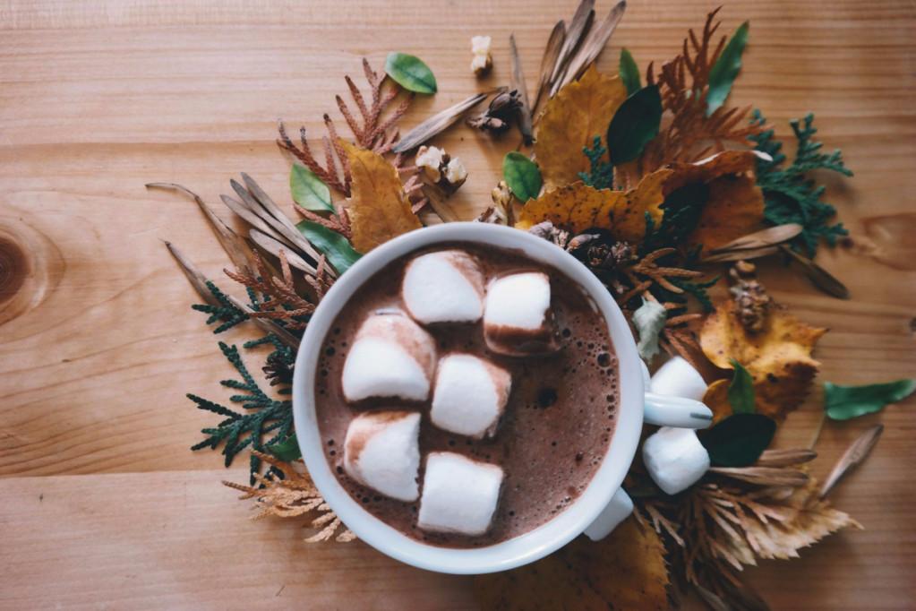 varm kakao med skumfiduser