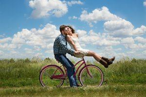 cyklende par
